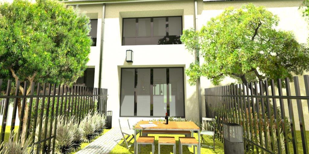 Maison en triplex avec jardin et parking